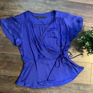 Zara wrap blouse
